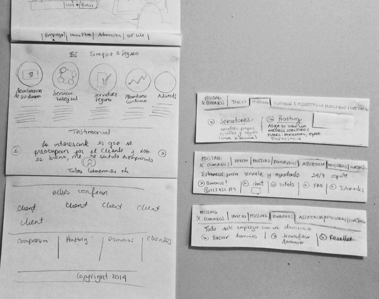 Sketch and information architecture